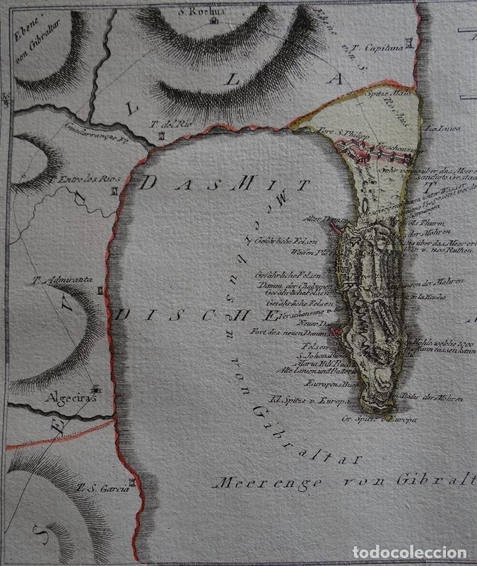 Arte: Mapa de Gibraltar ( sur de España), 1795. Reilly - Foto 2 - 96004971