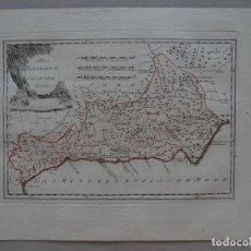 Arte: MAPA DE DE GRANADA Y MÁLAGA ( ANDALUCÍA, ESPAÑA), 1795. REILLY. Lote 96076183