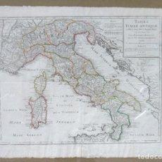 Arte: MAPA DE ITALIA. TABULA ITALIAE ANTIQUAE, 59X80 CM. MARCO: 74X97 CM.. Lote 76584187