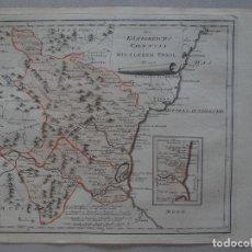 Arte: MAPA DEL NORTE DE VALENCIA, (ESPAÑA), 1795. REILLY. Lote 96194819