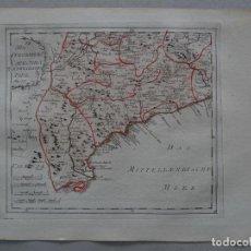 Arte: MAPA DEL SUR DE CATALUÑA (ESPAÑA), 1795. REILLY. Lote 96195287