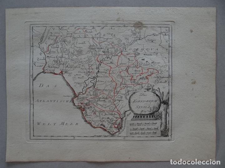 MAPA DE HUELVA, CÁDIZ, SEVILLA Y GIBRALTAR ANDALUCÍA, ESPAÑA),1795.REILLY (Arte - Cartografía Antigua (hasta S. XIX))
