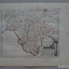 Arte: MAPA DE HUELVA, CÁDIZ, SEVILLA Y GIBRALTAR ANDALUCÍA, ESPAÑA),1795.REILLY. Lote 96197167