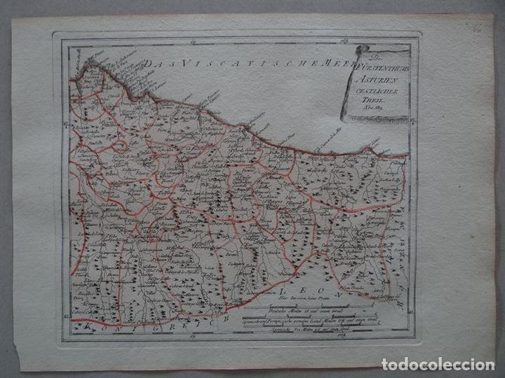 MAPA DEL ESTE DEL PRINCIPADO DE ASTURIAS (ESPAÑA), 1795. REILLY (Arte - Cartografía Antigua (hasta S. XIX))
