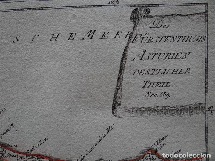 Arte: Mapa del este del Principado de Asturias (España), 1795. Reilly - Foto 2 - 96406591