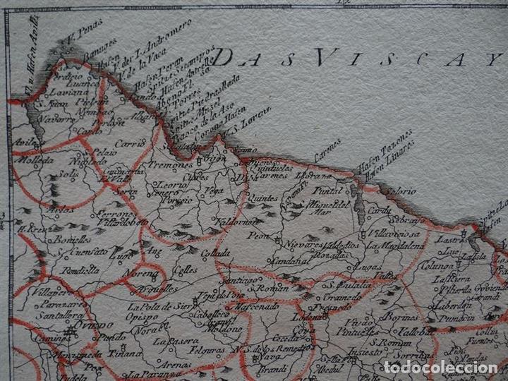 Arte: Mapa del este del Principado de Asturias (España), 1795. Reilly - Foto 3 - 96406591