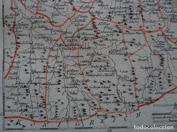 Arte: Mapa del este del Principado de Asturias (España), 1795. Reilly - Foto 4 - 96406591