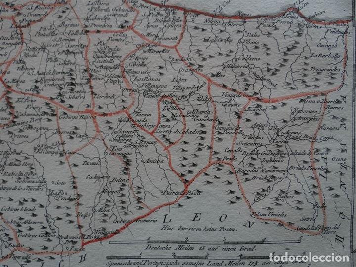 Arte: Mapa del este del Principado de Asturias (España), 1795. Reilly - Foto 5 - 96406591