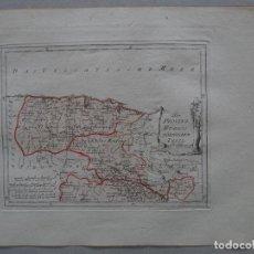 Arte: MAPA DE LAS ANTIGUAS PROVINCIAS DE SANTANDER Y DE BURGOS (ESPAÑA), 1795. REILLY. Lote 96410595