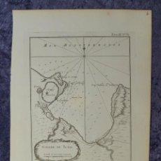 Arte: MAPA DEL GOLFO DE TÚNEZ (NORTE DE ÁFRICA), 1764. BELLIN. Lote 96606091
