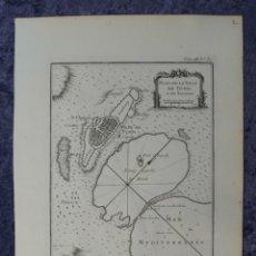 Arte: MAPA DE LA CIUDAD DE TÚNEZ (NORTE DE ÁFRICA), 1764. BELLIN. Lote 96606259