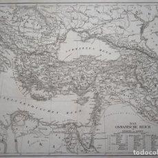 Arte: MAPA DEL IMPERIO OTOMANO, 1851. J.L.V BAEHR. Lote 96765811