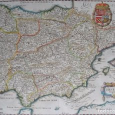 Arte: ESPAÑA Y PORTUGAL, MAPA POR M. MERIAN (1638), HISPANIA REGNUM. Lote 97188039