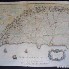 Arte: TARRAGONA, MAPA POR BASIRE/TINDAL/RAPIN (1745), CAMP OF TARRAGONA. Lote 97239887