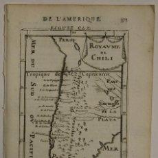 Arte: MAPA DE PERÚ, CHILE Y ARGENTINA (AMÉRICA), 1683. MALLET. Lote 97448423