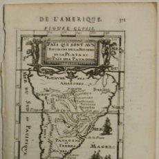 Arte: MAPA DE AMÉRICA DEL SUR, 1683. MALLET. Lote 97448539