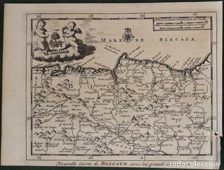 MAPA DE VIZCAYA (ESPAÑA), 1707.PIETER VAN DER AA (Arte - Cartografía Antigua (hasta S. XIX))