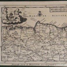 Arte: MAPA DE VIZCAYA (ESPAÑA), 1707.PIETER VAN DER AA. Lote 97498827