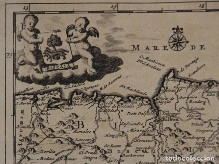 Arte: Mapa de Vizcaya (España), 1707.Pieter Van der Aa - Foto 2 - 97498827