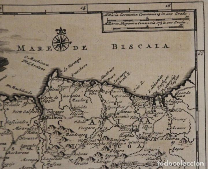 Arte: Mapa de Vizcaya (España), 1707.Pieter Van der Aa - Foto 3 - 97498827