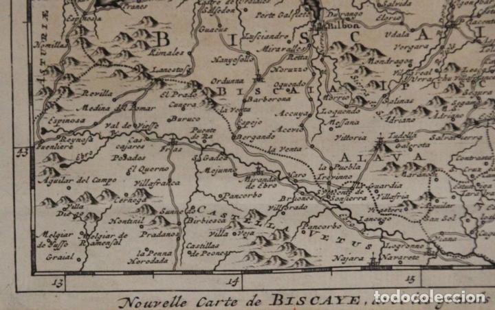 Arte: Mapa de Vizcaya (España), 1707.Pieter Van der Aa - Foto 4 - 97498827