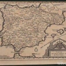 Arte: MAPA DE ESPAÑA Y PORTUGAL, 1707. PIETER VAN DER AA. Lote 97498991