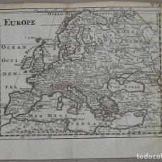 Arte: MAPA DE EUROPA, 1720. BOSSUET. Lote 97499179