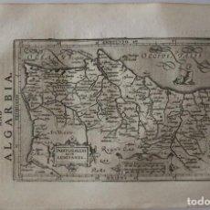 Arte: ANTIGUO MAPA DEL REINO DE PORTUGAL, 1634. MERCATOR /HONDIUS/SPARKE. Lote 97500379