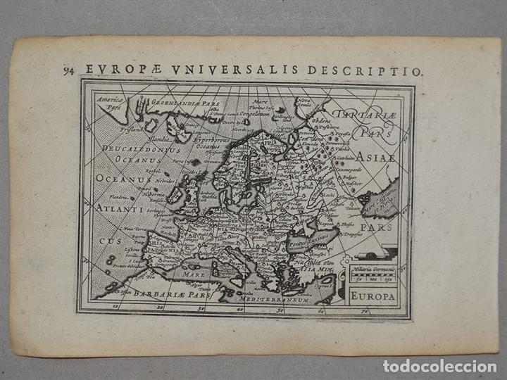 ANTIGUO MAPA DE EUROPA Y PORTADA DEL ATLAS, 1616. BERTIUS/ HONDIUS (Arte - Cartografía Antigua (hasta S. XIX))