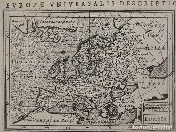 Arte: Antiguo mapa de Europa y portada del atlas, 1616. Bertius/ Hondius - Foto 2 - 97500755