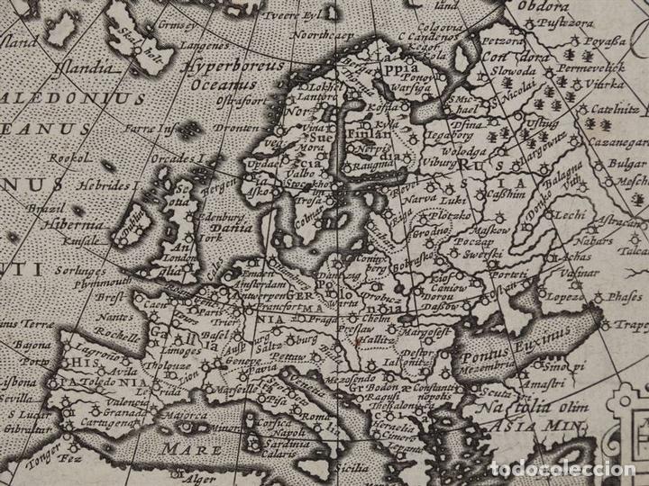 Arte: Antiguo mapa de Europa y portada del atlas, 1616. Bertius/ Hondius - Foto 7 - 97500755