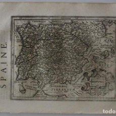Arte: ANTIGUO MAPA DE ESPAÑA Y PORTUGAL, 1634. MERCATOR /HONDIUS/SPARKE. Lote 97501155