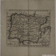 Arte: MAPA DE ESPAÑA Y PORTUGAL, 1733. ANSELM DESING. Lote 97501823