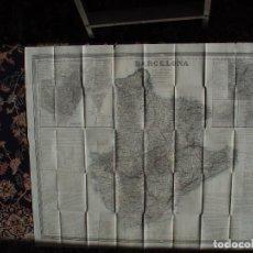 Arte: MAPA CARTOGRAFICO DE BARCELONA 1862. ENTELADO.FRANCISCO COELLO Y PASCUAL MADOZ. Lote 97615759