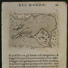 Arte: ANTIGUO MAPA DE CÁDIZ (ESPAÑA), 1598. ORTELIUS/MARCHETTI. Lote 97967491