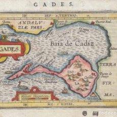 Arte: ANTIGUO MAPA DE CÁDIZ (ESPAÑA), 1604. ORTELIUS/ HULSIUS. Lote 97967631