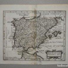Arte: MAPA DE ESPAÑA Y PORTUGAL ANTIGUOS, 1680. CLÜVER /KAERIUS. Lote 98031363