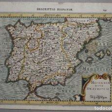 Arte: MAPA DE ESPAÑA Y PORTUGAL, 1610. KAERIUS/MERCATOR. Lote 98031411