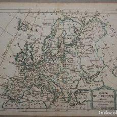 Arte: MAPA DE EUROPA, 1750. BRION DE LA TOUR. Lote 98133735