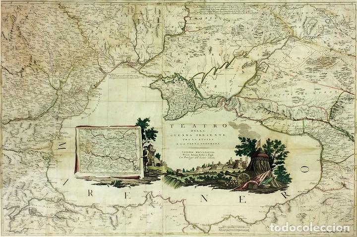 TEATRO DELLA GUERRA PRESENTE TRA LA RUSSIA E LA PORTA OTTOMANA. ZATTA. VENECIA.1788 (Arte - Cartografía Antigua (hasta S. XIX))