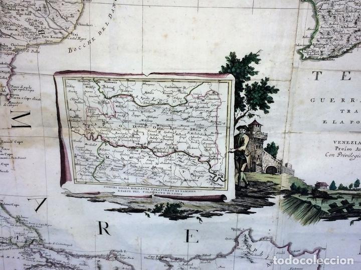 Arte: TEATRO DELLA GUERRA PRESENTE TRA LA RUSSIA E LA PORTA OTTOMANA. ZATTA. VENECIA.1788 - Foto 5 - 98437351