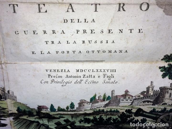 Arte: TEATRO DELLA GUERRA PRESENTE TRA LA RUSSIA E LA PORTA OTTOMANA. ZATTA. VENECIA.1788 - Foto 9 - 98437351