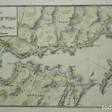 Arte: MAPA DE LA BAHÍA DE VIGO, GALICIA DEL SIGLO XIX DE DOMINGO FONTÁN. Lote 98548535