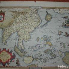 Arte: MAPA DE LAS INDIAS, INDIAE ORIENTALIS INSVLARVMQVE ADIACIENTI VM TY PVS.. Lote 98643963