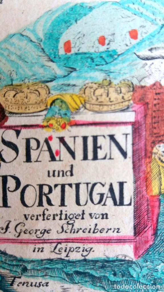 Arte: Mapa antiguo España del año 1750 con certificado de autenticidad. Mapas antiguos España general - Foto 2 - 99028835