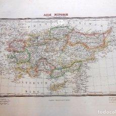 Arte: ASIAE MINORIS. MAPPA GENERALIS AD COESARUM TEMPUS. ALABERN RAMON (GRABADOR) 1833. Lote 100162619