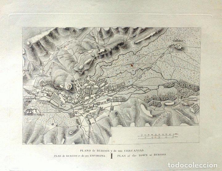 PLANO ANTIGUO BURGOS AÑO 1808 CON CERTIFICADO AUTENTICIDAD. MAPAS ANTIGUOS BURGOS CASTILLA (Arte - Cartografía Antigua (hasta S. XIX))