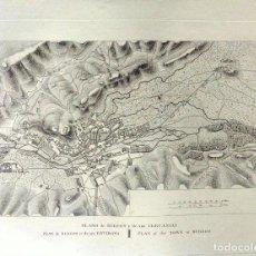 Arte: PLANO ANTIGUO BURGOS AÑO 1808 CON CERTIFICADO AUTENTICIDAD. MAPAS ANTIGUOS BURGOS CASTILLA. Lote 86097960