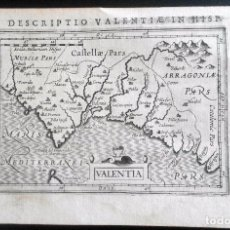 Arte: MAPA ANTIGUO VALENCIA AÑO 1616 CON CERTIFICADO DE AUTENTICIDAD. MAPAS ANTIGUOS VALENCIA. Lote 76894607