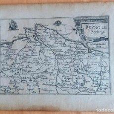 Arte: MAPA ANTIGUO PORTUGAL AÑO 1640 CON CERTIFICADO AUTENTICIDAD. MAPAS ANTIGUOS PORTUGAL. Lote 90406024